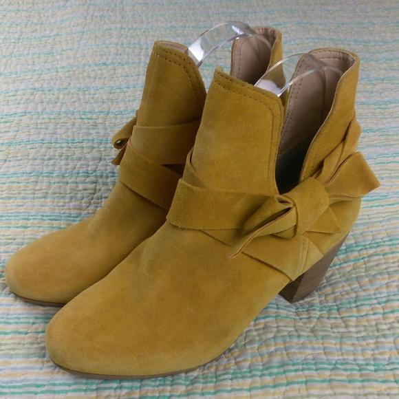edf1d7b81 Diba Shoes | 6 Mustard Yellow Slip On Ankle Boots | Poshmark